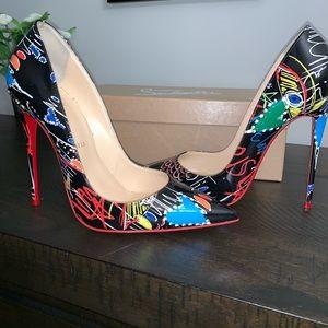 Pigalle Follies black patent Loubitag heels